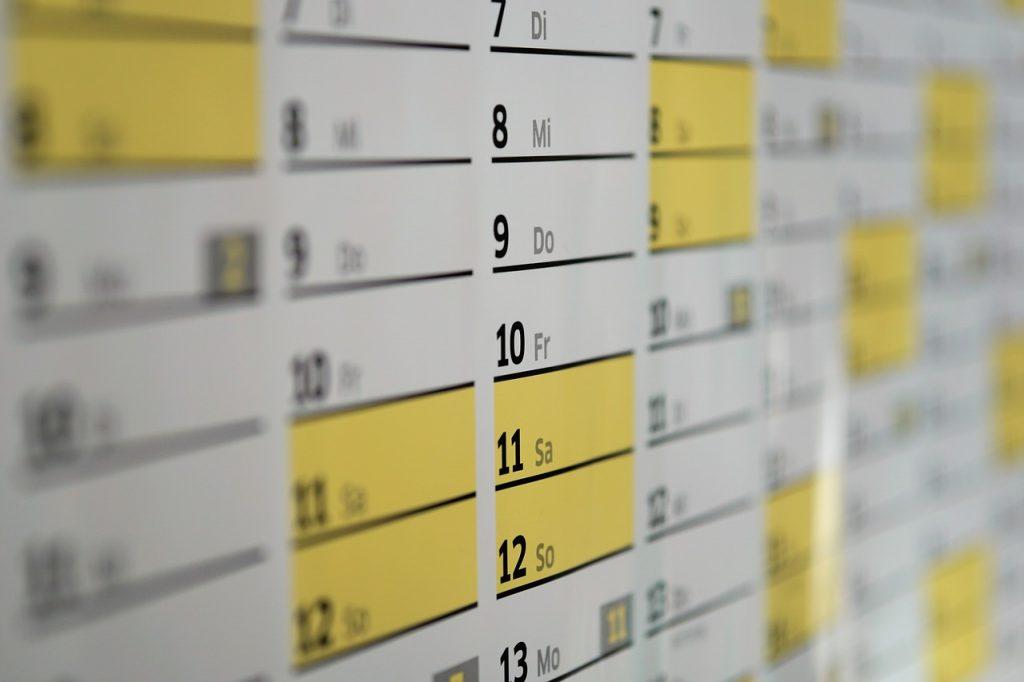 o que agendar para este ano e o que agendar ano que vem